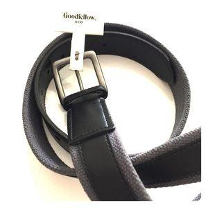 Men's Grey and Black Belt